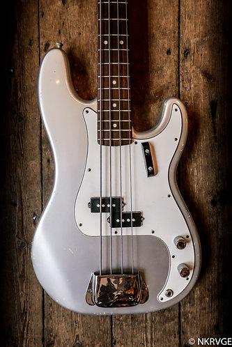 1994 Fender Precision Bass Silver finish