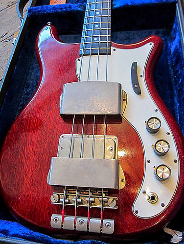 1964 Epiphone Embassy Deluxe Bass in Cherry finish