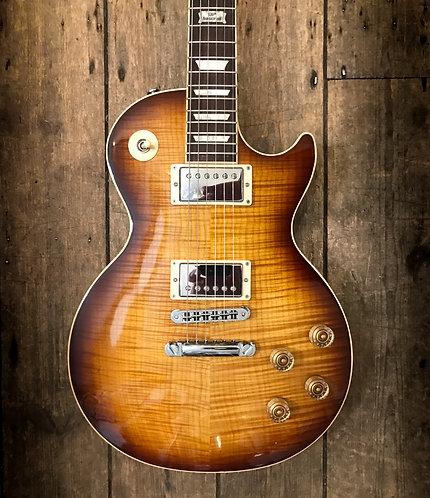 2014 Gibson Les Paul Standard 120th Anniversary In tobacco sunburst finish.