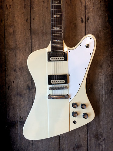 1964 Gibson Firebird V refinished in white