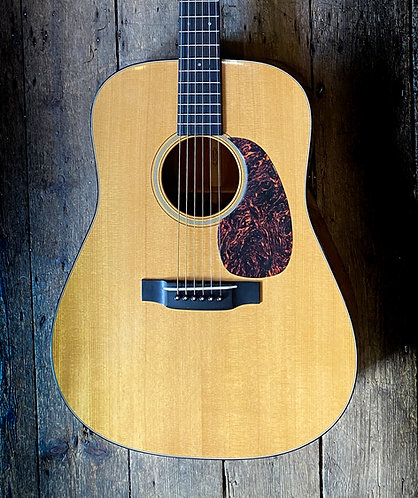 2005 Martin D18 V Series acoustic in natural finish