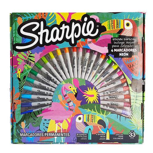 30 Marcadores Permanentes Sharpie Edición Especial