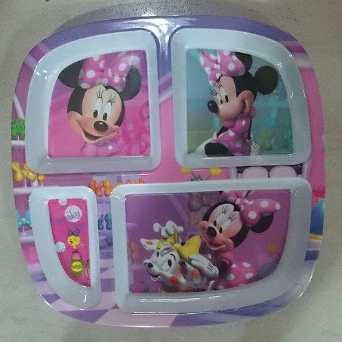 Plato Melamina Minnie Mouse con divisiones