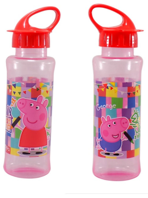 Botella de plastico peppa pig tapa flor