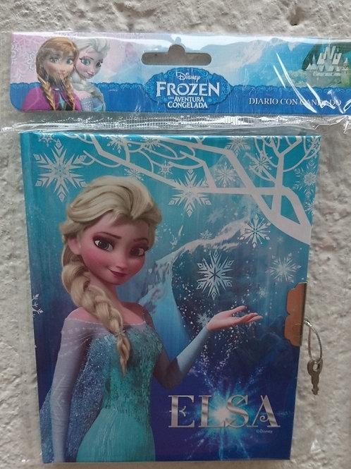Diario con candado y  llave Frozen