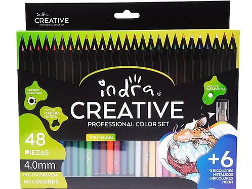Colores Profesionales 60 Tonos En 48 Lapices Indra Creative