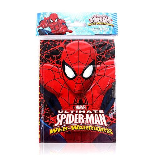 Diario con candado y llave Spiderman