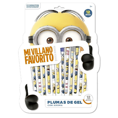 Plumas de Gel decoradas Minions