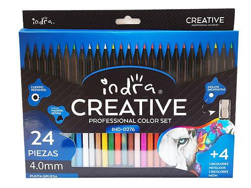 Colores Profesionales 32 Tonos En 28 Lapices Indra Creative