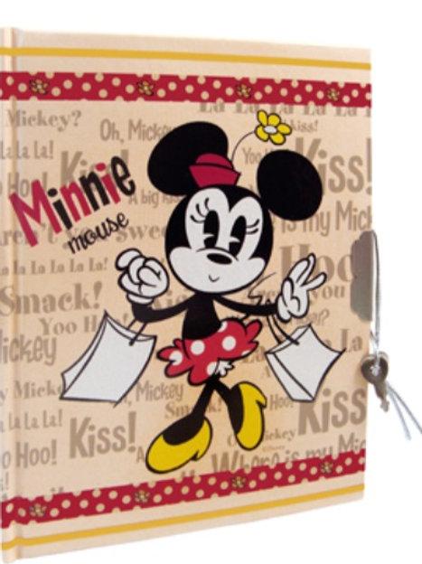 Diario con candado y llave Minnie Mouse Mod 43
