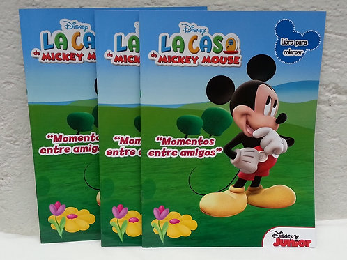 10 Libros para colorear Mickey Mouse
