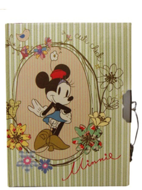 Diario con candado y llave Minnie Mouse Mod 42