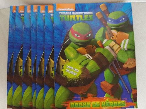10 Libros para colorear de tortugas ninja