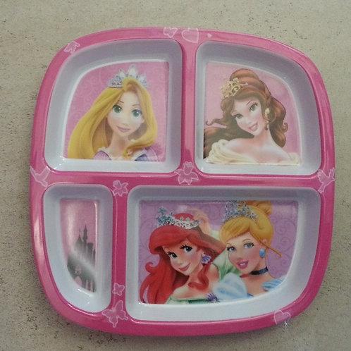 Plato Melamina Princesas Disney  con divisiones