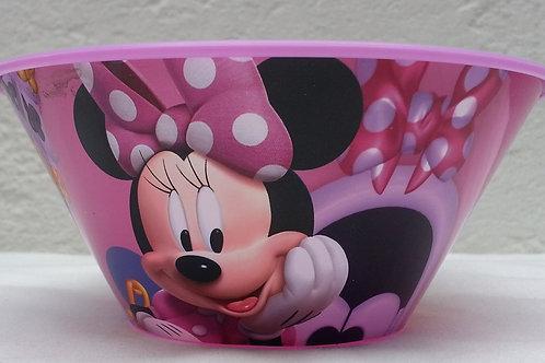Tazon plastico con popote Minnie Mouse