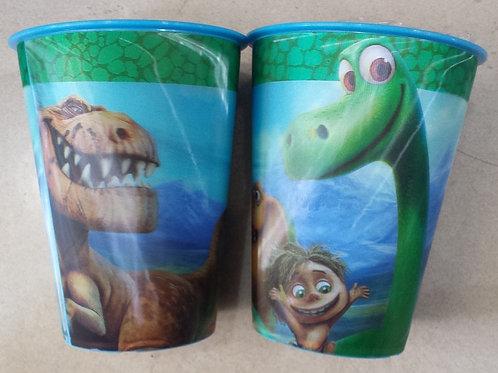 Vaso lenticular efecto 3d Un gran dinosaurio