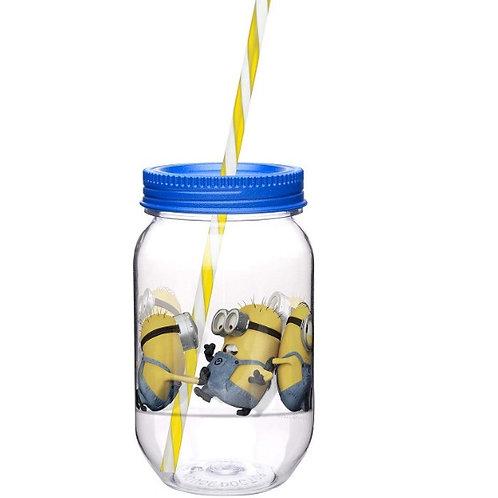 Vaso mason jar de Minions Azul