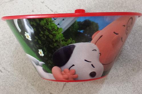 Tazon plastico con popote Snoopy