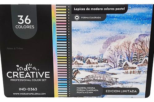 36 colores indra creative profesionales tonos pastel