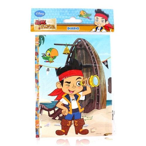 Diario con candado y llave Jake y Los piratas