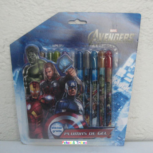 Plumas de Gel decoradas  Avengers