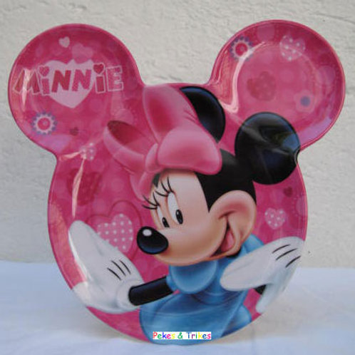 Plato Melamina Minnie Mouse con orejas