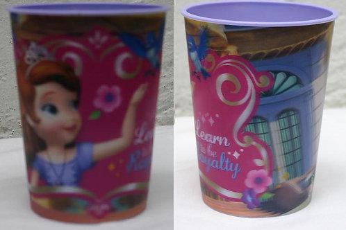 Vaso lenticular efecto 3D Princesa Sofia