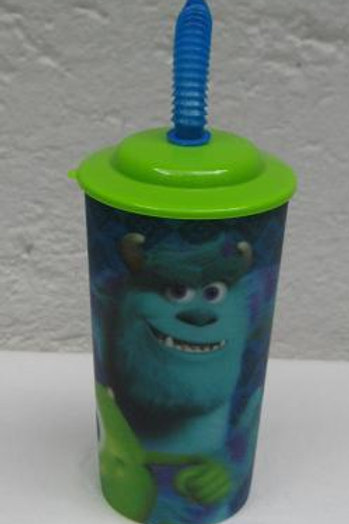 Vaso lenticular tapa y popote Monster University