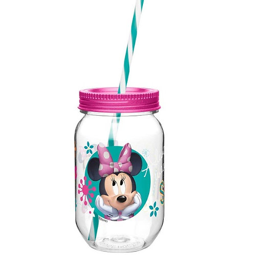 Vaso mason jar de Minnie Mouse
