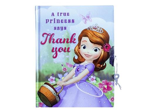 Diario con candado y llave princesa Sofia
