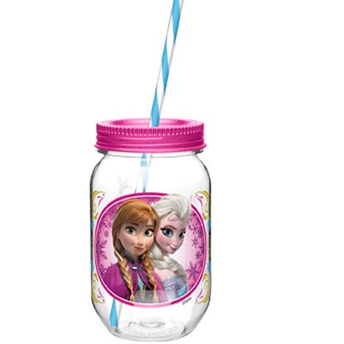Vaso mason jar de Frozen
