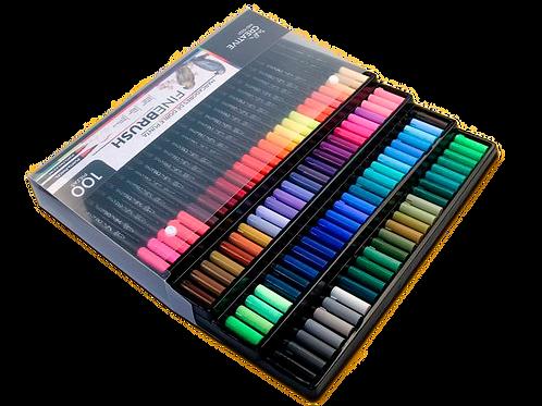 100 plumones punta pincel / Fino Indra Creative Fine Brush Lettering