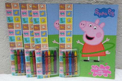 10 Libros para colorear con crayola Peppa Pig