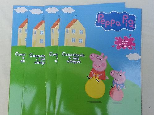 10 Libros para colorear Peppa Pig