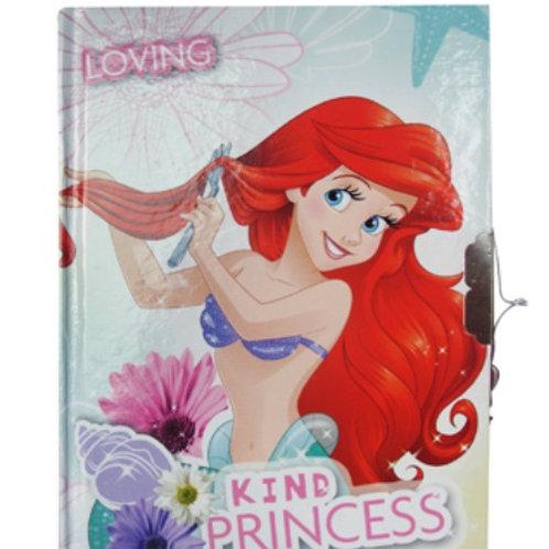 Diario con candado y llave princesas ariel
