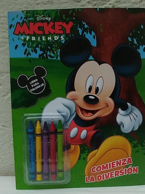10 Libros para colorear con crayola Mickey Mouse