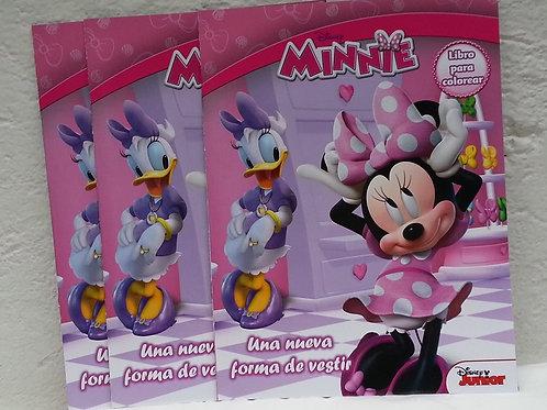10 Libros para colorear Minnie Mouse