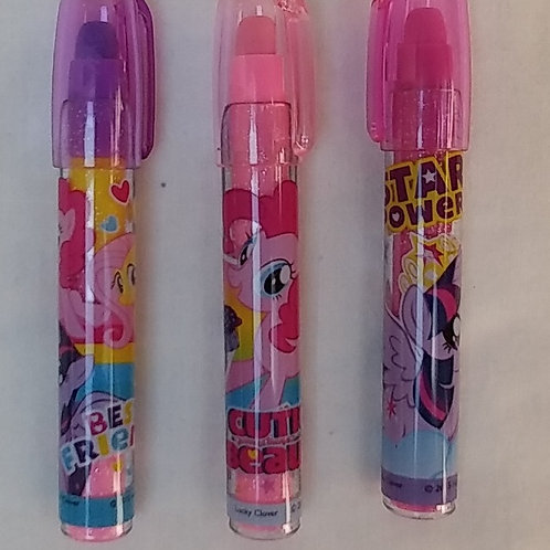 3 gomas intercambiables de My Little pony