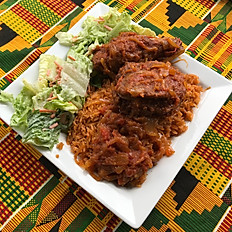 Jollof Rice & Chicken Stew