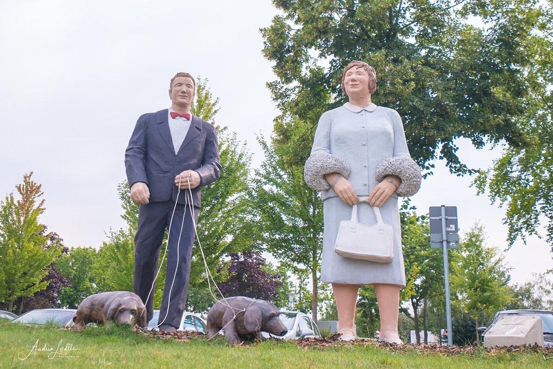 Das große Paar mit Dackel in Wiedenbrück