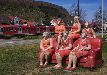 Das rote Sofa in Mosbach