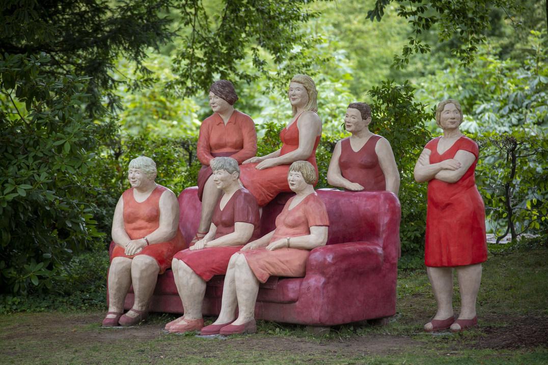 Das rote Sofa in Lichtenwalde