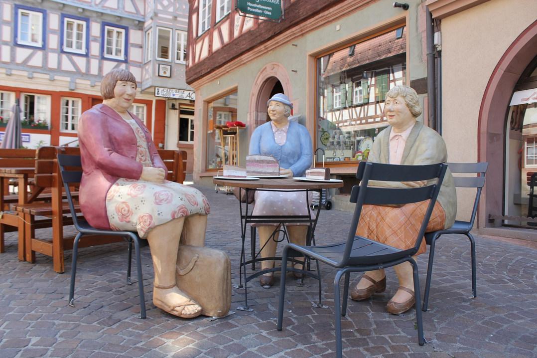 Kaffeeklatsch in der Mosbacher Altstadt