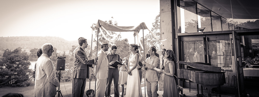 A mixed marriage with a chuppah