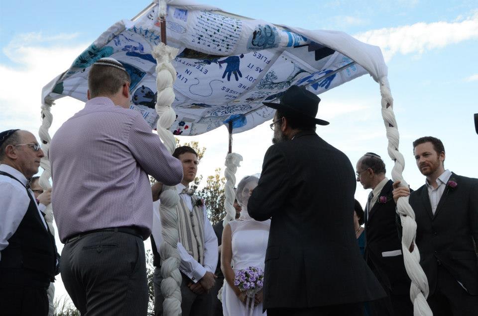 The chuppah - Jewish wedding canopy