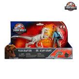 Velociraptor & Dr. Alan Grant Set