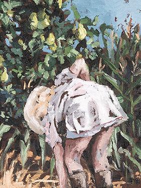 witte jurk met peren -Karel Vaes- copyright Maartje Elants