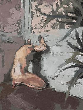 op knieen in paarse kamer - plat-mini.jp