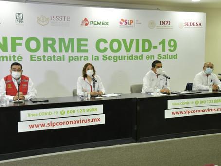 En SLP, 454 personas hospitalizadas por COVID-19