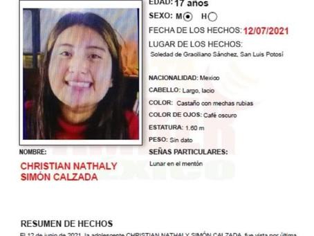 Christian Nataly, desapareció en Soledad, sus padres creen que fue víctima de trata